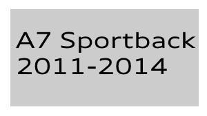 A7 Sportback 2011-2014