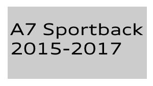 A7 Sportback 2015-2017