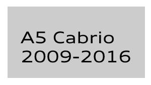A5 Cabrio 2009-2016